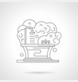bath and shower detailed line vector image