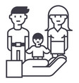 family life protectioninsurance line icon vector image
