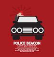 Police Beacon At Cars Roof vector image
