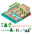 a set of isometric icons with dancing people vector image vector image