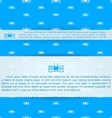 Advertising layout template for game control vector image