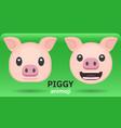animoji pig vector image