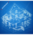 Architectural background with a building model vector image vector image