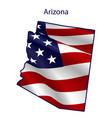 arizona full american flag waving in wind vector image vector image