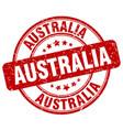 australia red grunge round vintage rubber stamp vector image vector image