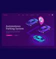 autonomous parking system isometric landing page