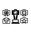award camera photo logo icon vector image vector image