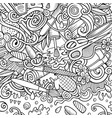 bathroom hand drawn doodles bath room frame card vector image vector image