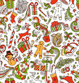 Boundless Funny Christmas Wallpaper vector image vector image