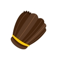 Brown leather baseball glove flat icon vector image vector image