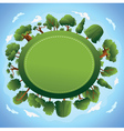 card design with trees vector image vector image