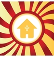 Christian house abstract icon vector image