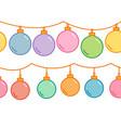 christmas balls decorative garland seamless vector image