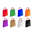 Colorful Set of Paper Shopping Bag vector image