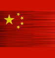 concept chinese flag red and yellow stars vector image vector image