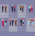 corporate party set of images vector image vector image