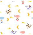 Cute foxes seamless pattern