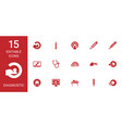 diagnostic icons vector image vector image