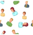 Different avatar pattern cartoon style vector image vector image