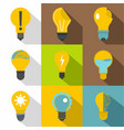 different light bulb logotype icons set vector image