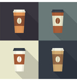 Disposable coffee cup vector image vector image