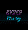 futuristic cyber monday design template vector image
