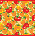 gardening seamless pattern of vector image vector image