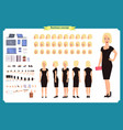 girl in evening dress character creation set vector image vector image