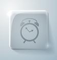 Glass square icon alarm clock vector image vector image