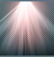 glow light effect beam rays sunlight vector image vector image