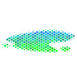 halftone blue-green puddle icon vector image