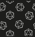 Hexagon seamless pattern line model vector image