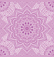 indian floral lilac and purple mandala vector image vector image