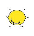 lemon icon design vector image vector image