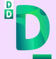 letter d graphic design vector image