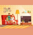 lifestyle of modern family mother father and vector image