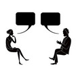 man and woman are talking drawing image vector image vector image
