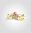 map marker pointer with road map icon design vector image vector image