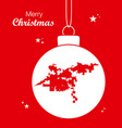 merry christmas theme with map of bakersfield vector image vector image