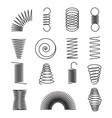 metal springs spiral lines coil shapes isolated vector image vector image