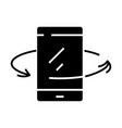 mobile phone market black icon concept vector image vector image