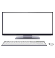 Modern desktop computer with blank screen vector image vector image