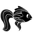 Monochrome stylized Fish vector image vector image