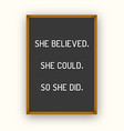 motivation letterboard quote vector image