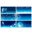 New Year Greeting Card Template Set vector image