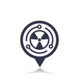 nuclear energy icon on pointer vector image vector image