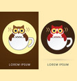 owl cafe vector image vector image