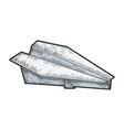 paper plane sketch vector image