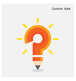 Pencil question mark on background vector image vector image