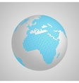 planet Earth globe with blue squared map of vector image vector image